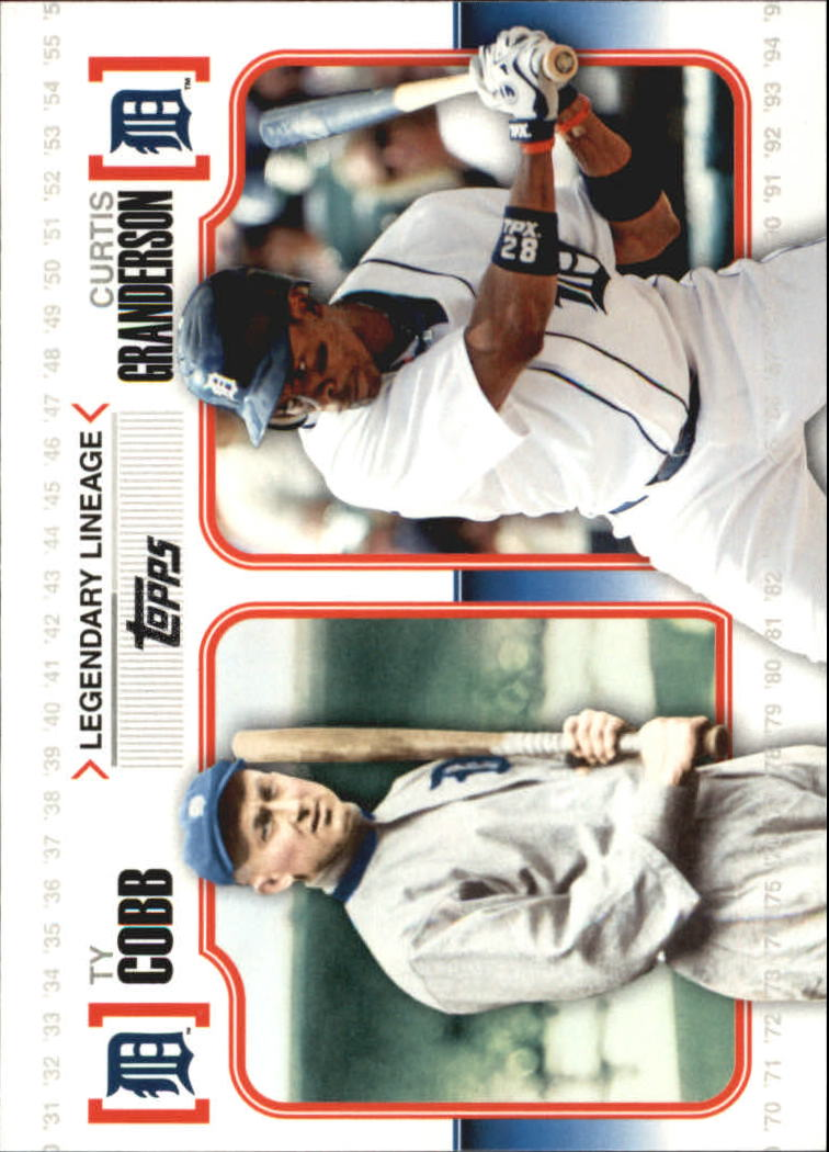 2010 Topps Legendary Lineage #LL5 Ty Cobb/Curtis Granderson