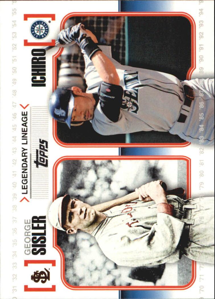 2010 Topps Legendary Lineage #LL7 George Sisler/Ichiro Suzuki