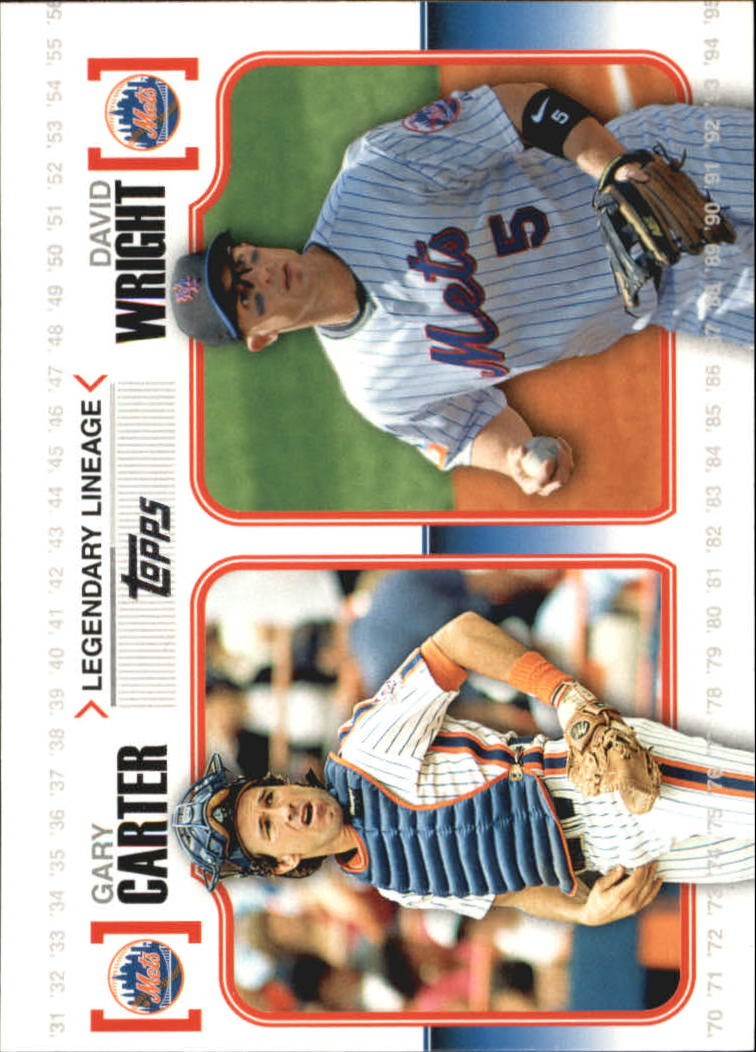 2010 Topps Legendary Lineage #LL18 Gary Carter/David Wright