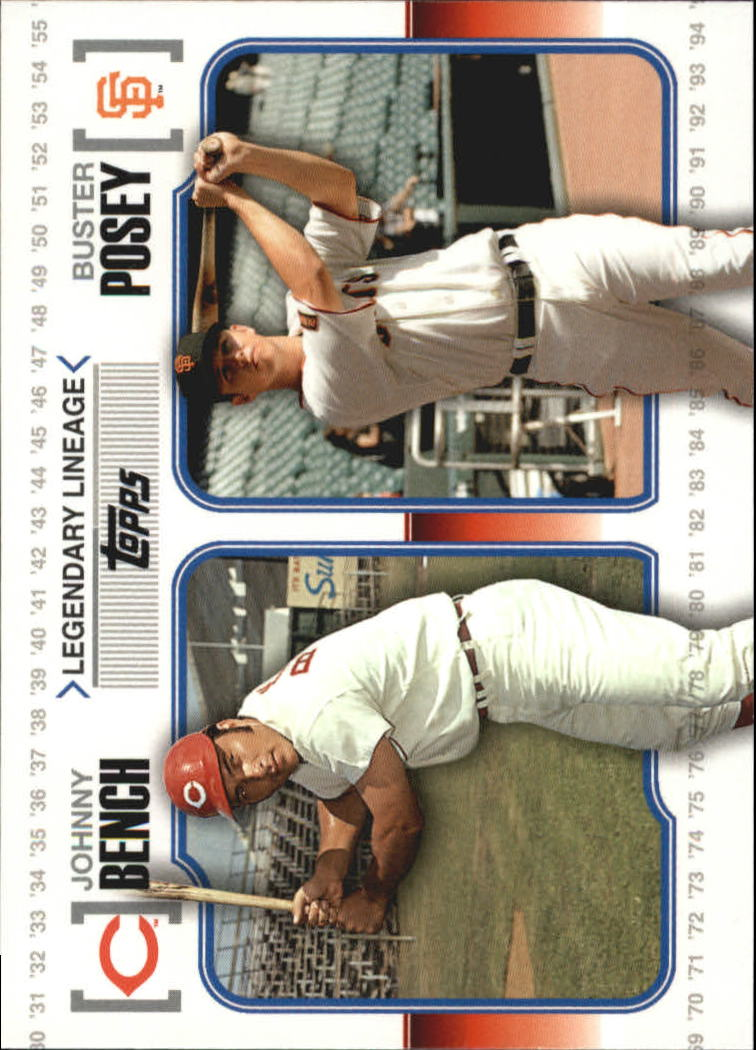 2010 Topps Legendary Lineage #LL74 Johnny Bench/Buster Posey