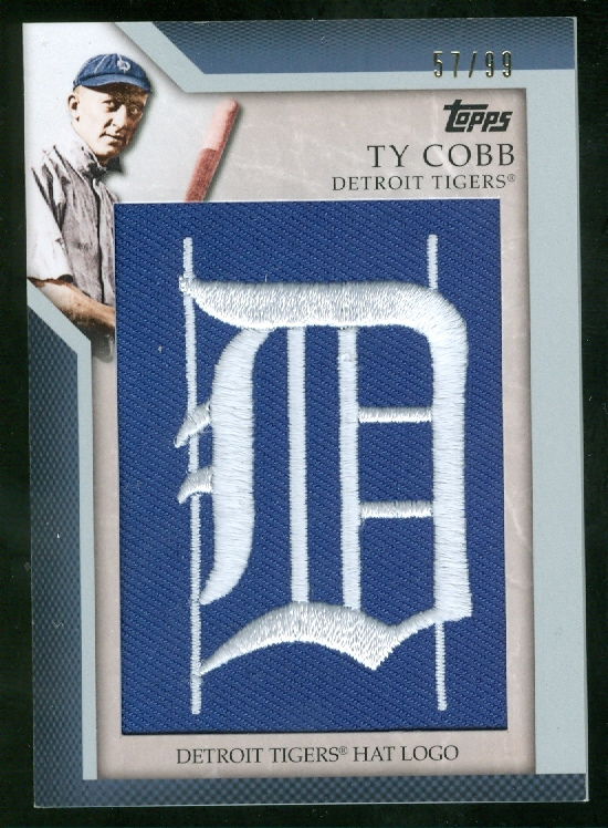 2010 Topps Manufactured Hat Logo Patch #MHR20 Ty Cobb