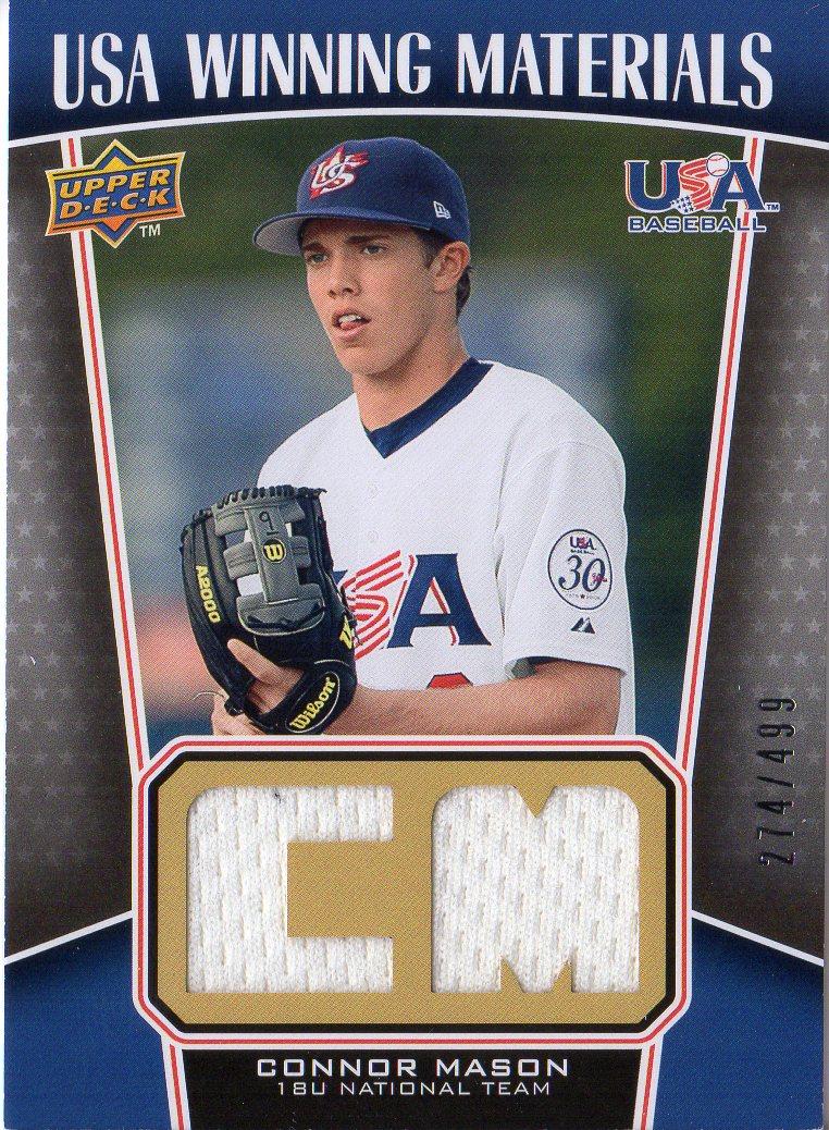 2009 Upper Deck Signature Stars USA Winning Materials #11 Connor Mason