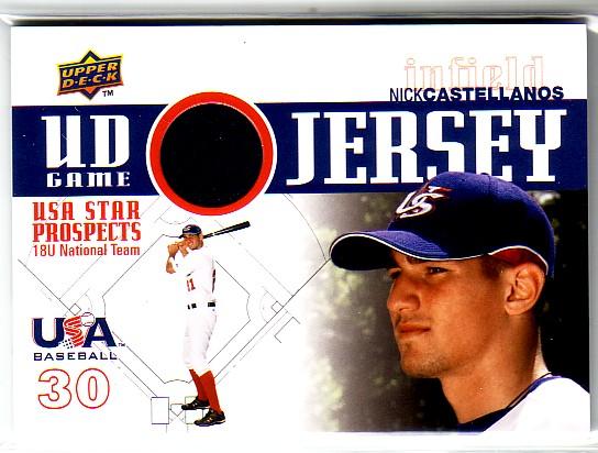 2009 Upper Deck Signature Stars USA Star Prospects Jerseys #2 Nick Castellanos