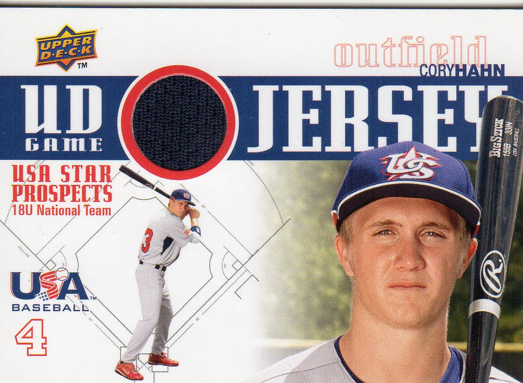 2009 Upper Deck Signature Stars USA Star Prospects Jerseys #7 Cory Hahn