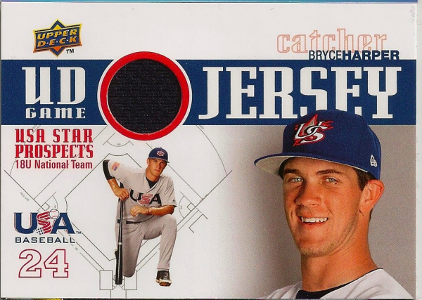 2009 Upper Deck Signature Stars USA Star Prospects Jerseys #8 Bryce Harper