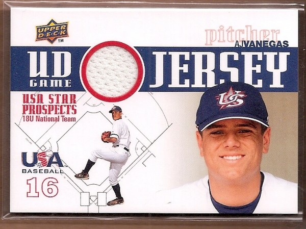 2009 Upper Deck Signature Stars USA Star Prospects Jerseys #18 AJ Vanegas