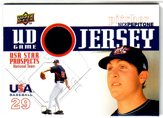 2009 Upper Deck Signature Stars USA Star Prospects Jerseys #35 Nick Pepitone