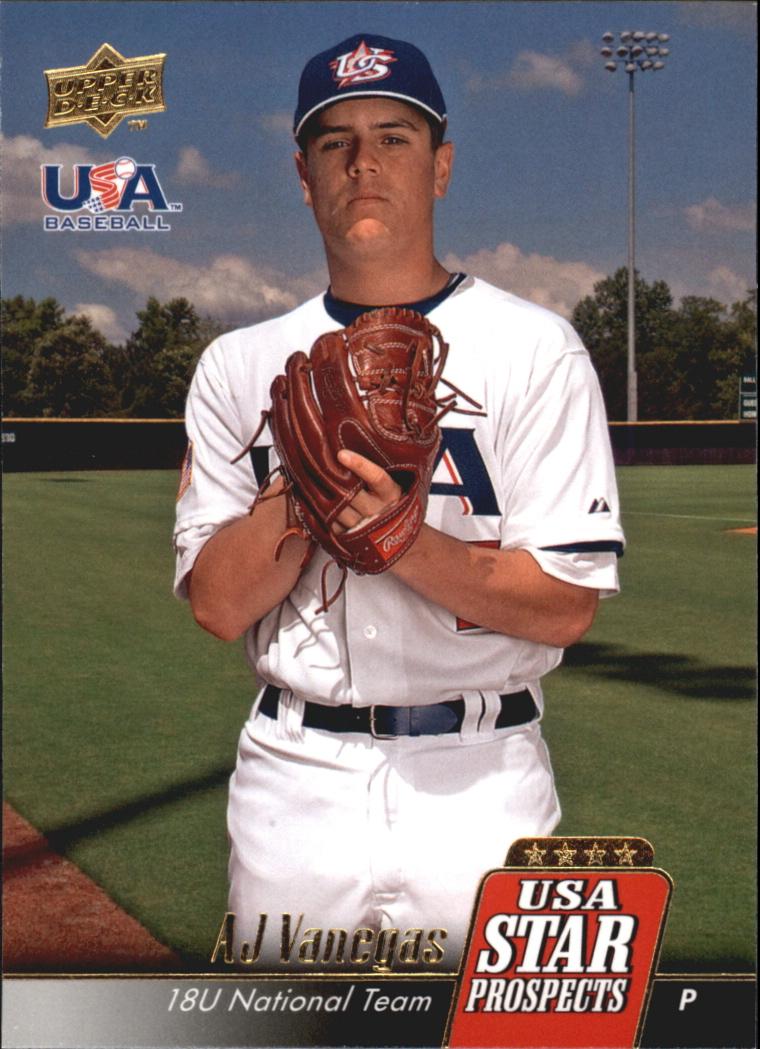 2009 Upper Deck Signature Stars USA Star Prospects #USA18 AJ Vanegas