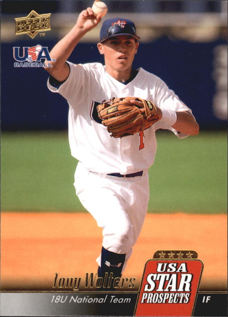 2009 Upper Deck Signature Stars USA Star Prospects #USA20 Tony Wolters