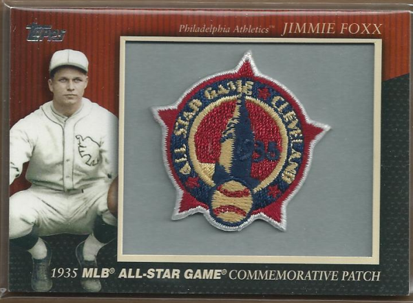 2010 Topps Commemorative Patch #MCP6 Jimmie Foxx
