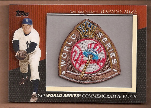 2010 Topps Commemorative Patch #MCP11 Johnny Mize