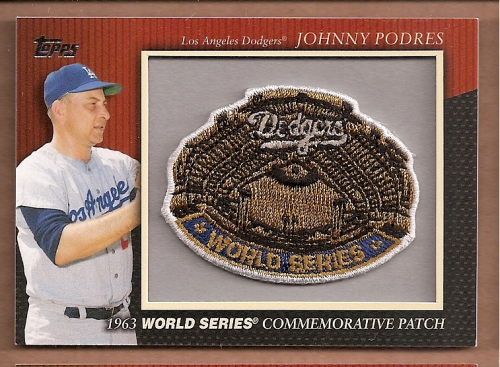 2010 Topps Commemorative Patch #MCP18 Johnny Podres