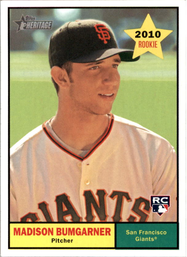 2010 Topps Heritage #161 Madison Bumgarner RC