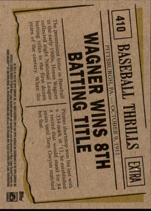 2010 Topps Heritage #410 Honus Wagner BT back image