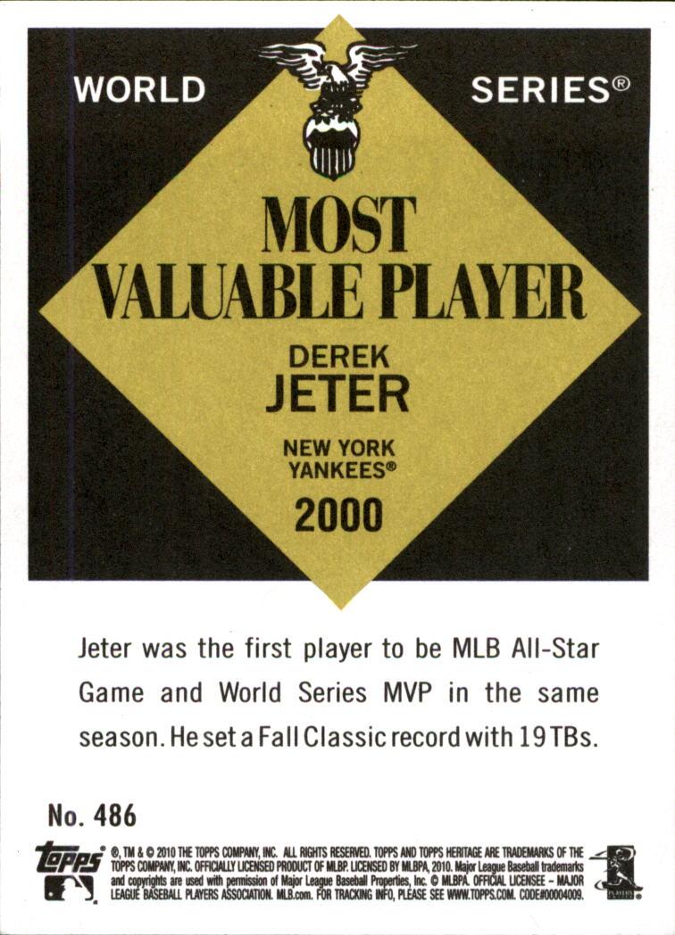 2010 Topps Heritage #486 Derek Jeter SP back image