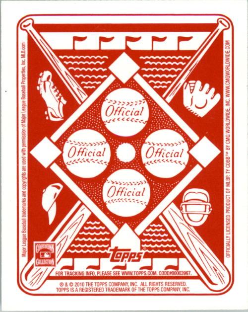2010 Topps Red Back #5 Ty Cobb back image