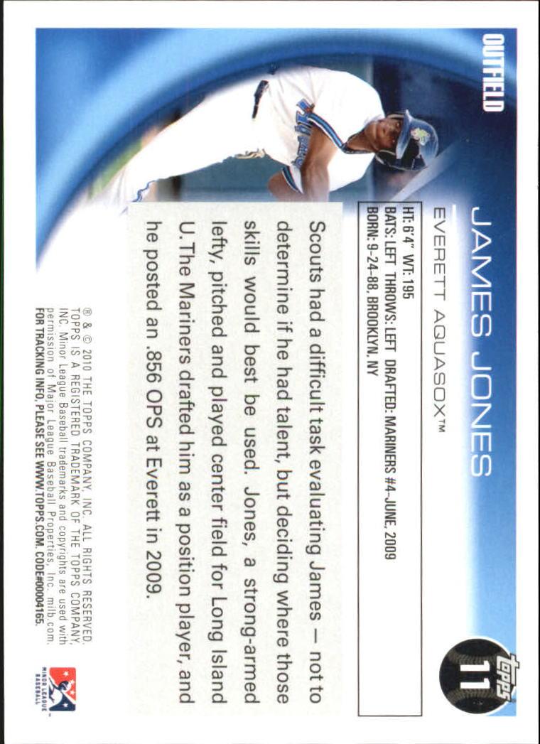 2010 Topps Pro Debut #11 James Jones back image