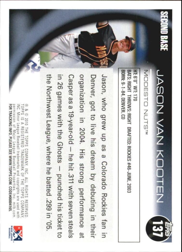 2010 Topps Pro Debut #137 Jason Van Kooten back image