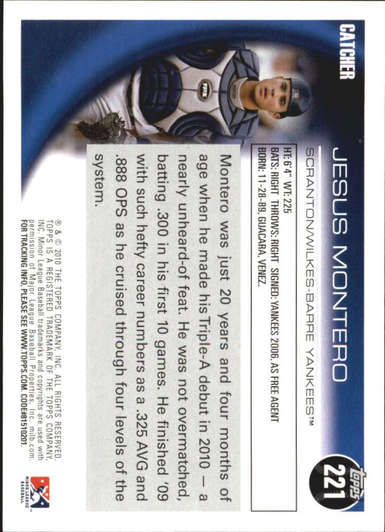 2010 Topps Pro Debut #221 Jesus Montero back image