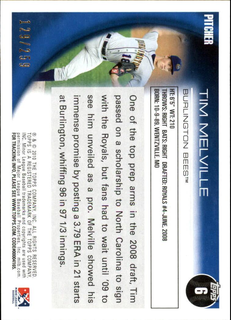 2010 Topps Pro Debut Blue #6 Tim Melville back image
