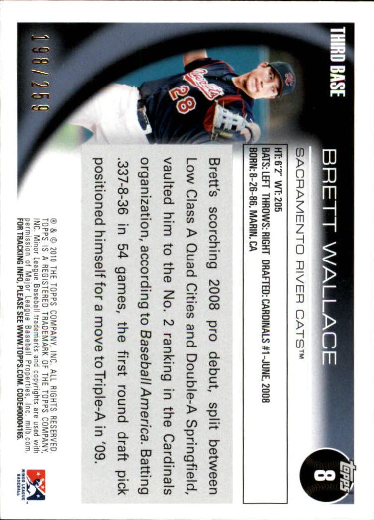 2010 Topps Pro Debut Blue #8 Brett Wallace back image