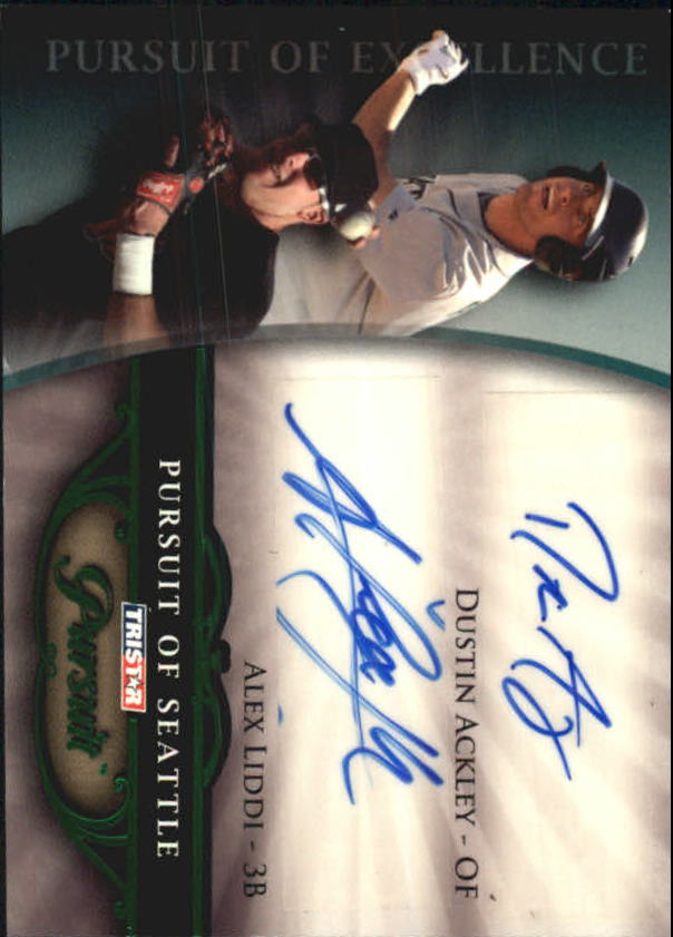 2010 TRISTAR Pursuit Autographs Green #76 Dustin Ackley/Alex Liddi