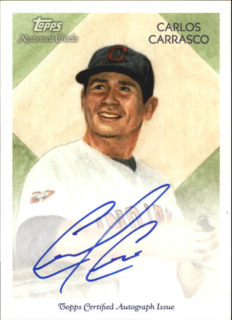 2010 Topps National Chicle Autographs #CC Carlos Carrasco A