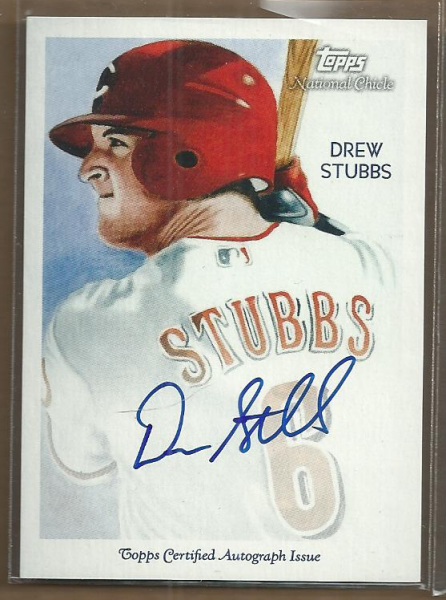 2010 Topps National Chicle Autographs #DST Drew Stubbs A
