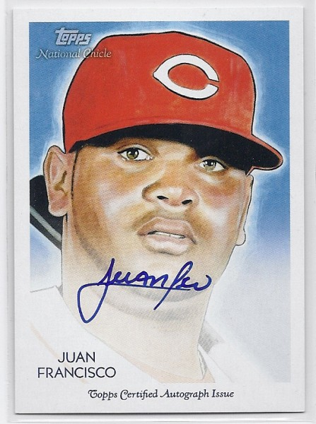 2010 Topps National Chicle Autographs #JF Juan Francisco A
