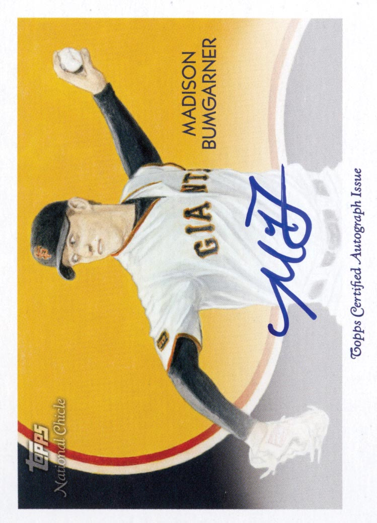 2010 Topps National Chicle Autographs #MB Madison Bumgarner A