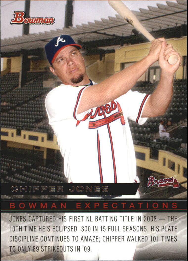 2010 Bowman Expectations #BE17 Chipper Jones/Jason Heyward