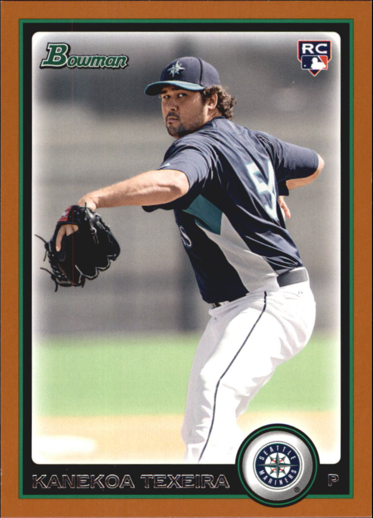 2010 Bowman Orange #193 Kanekoa Texeira