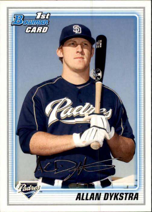 2010 Bowman Prospects #BP44 Allan Dykstra
