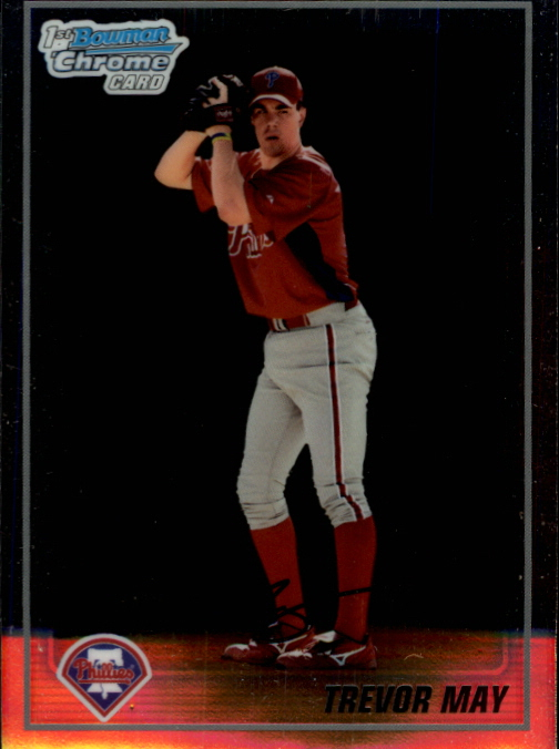2010 Bowman Chrome Prospects #BCP36 Trevor May