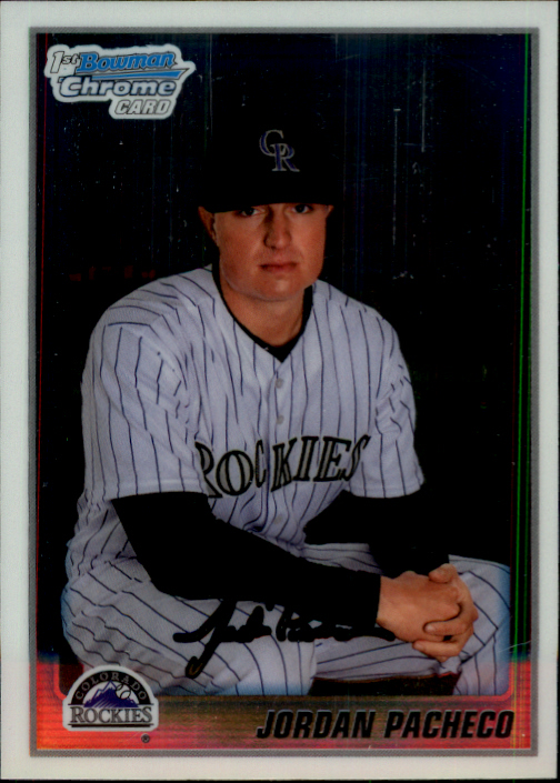 2010 Bowman Chrome Prospects #BCP135 Jordan Pacheco