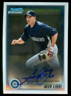 2010 Bowman Chrome Prospects #BCP182B Alex Liddi AU