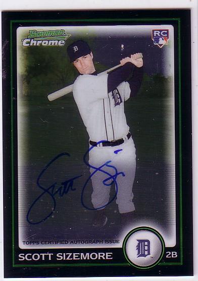 2010 Bowman Chrome #199A Scott Sizemore AU
