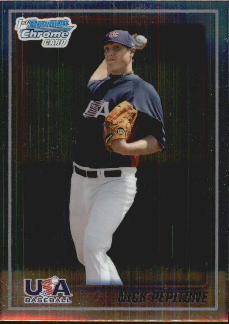2010 Bowman Chrome USA Baseball #BC15 Nick Pepitone