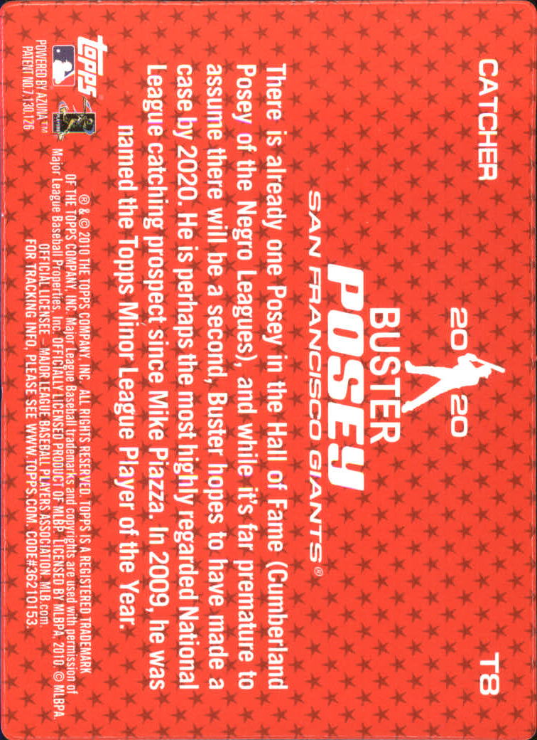 2010 Topps 2020 #T8 Buster Posey back image