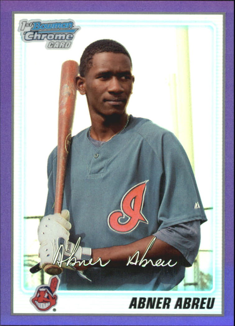 2010 Bowman Chrome Prospects Purple Refractors #BCP46 Abner Abreu