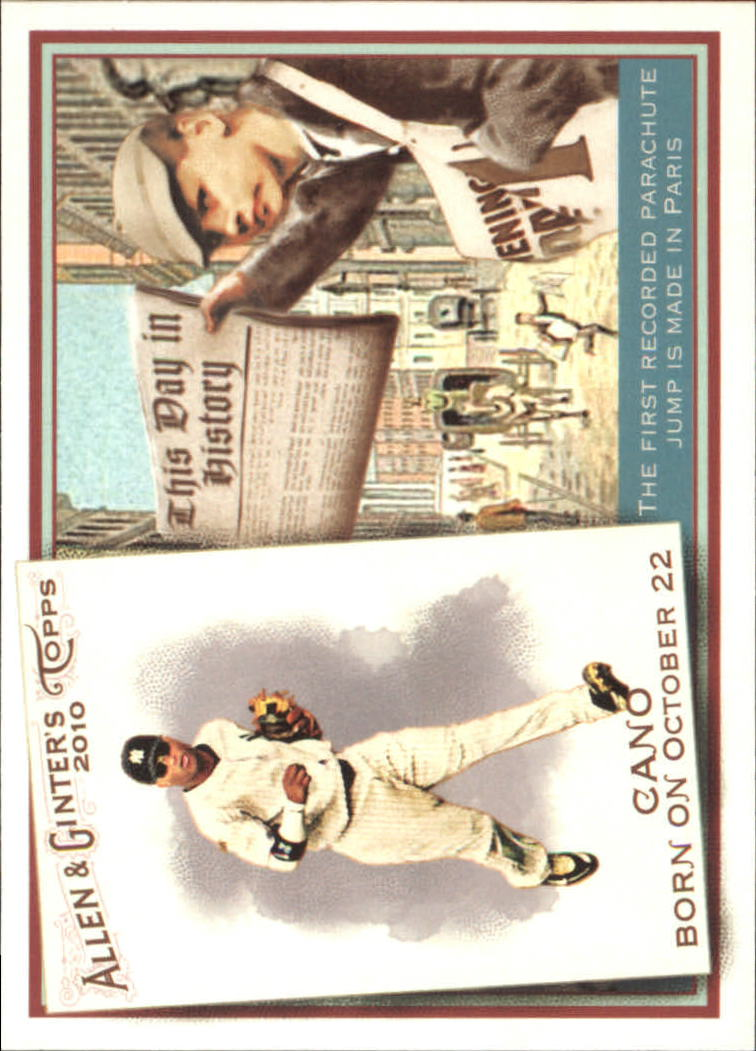 2010 Topps Allen and Ginter This Day in History #TDH19 Robinson Cano
