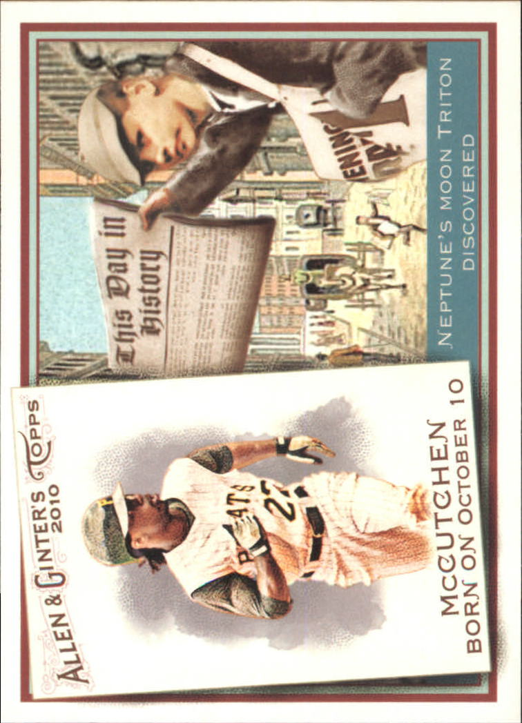 2010 Topps Allen and Ginter This Day in History #TDH70 Andrew McCutchen
