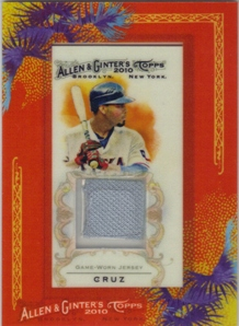 2010 Topps Allen and Ginter Relics #NC Nelson Cruz