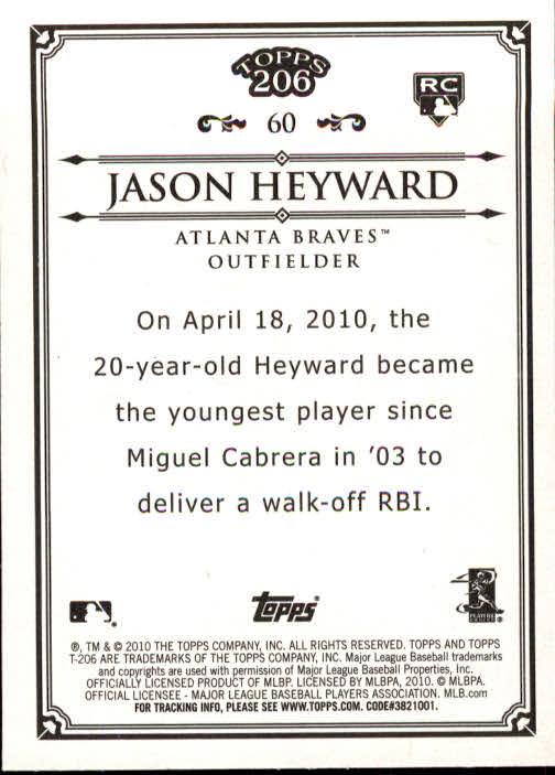 2010 Topps 206 #60 Jason Heyward RC back image