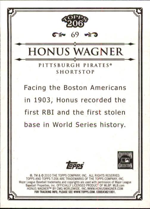 2010 Topps 206 #69 Honus Wagner back image