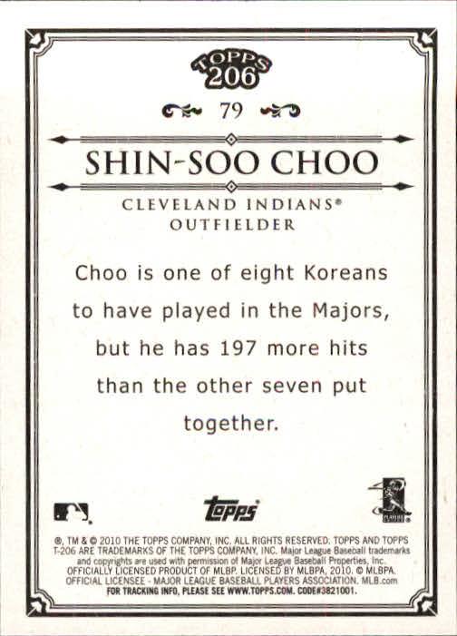2010 Topps 206 #79 Shin-Soo Choo back image