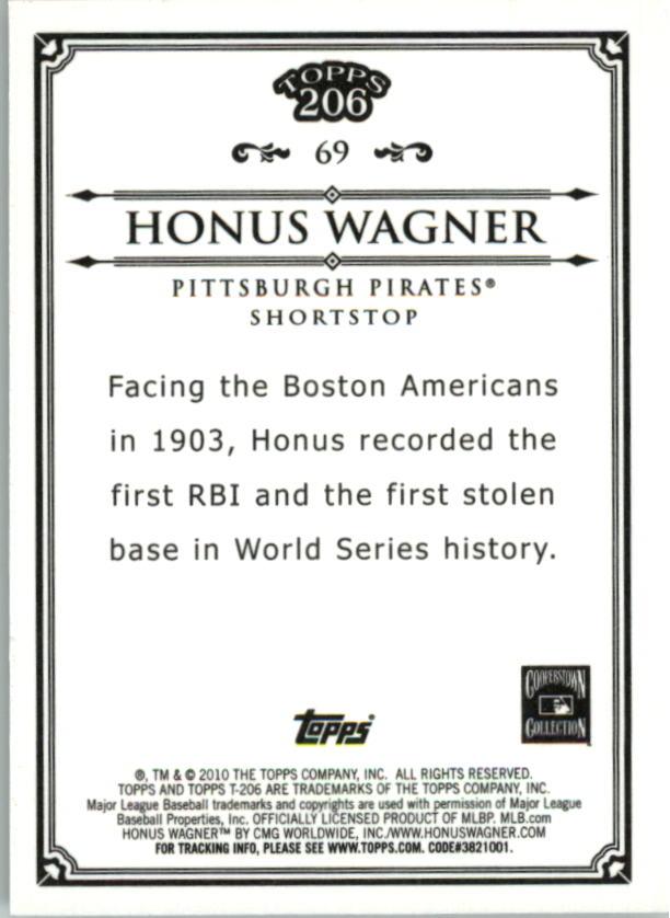 2010 Topps 206 Bronze #69 Honus Wagner back image