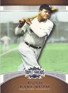 2010 Topps Triple Threads Sepia #36 Babe Ruth