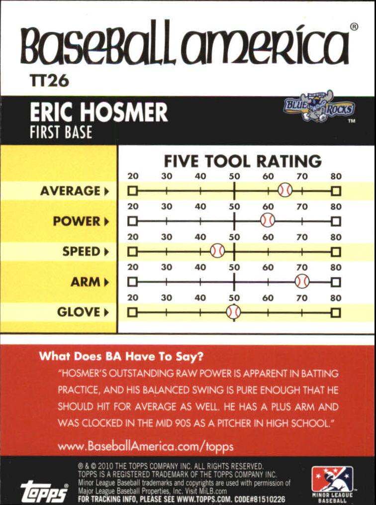 2010 Topps Pro Debut Baseball America's Tools of the Trade #TT26 Eric Hosmer back image