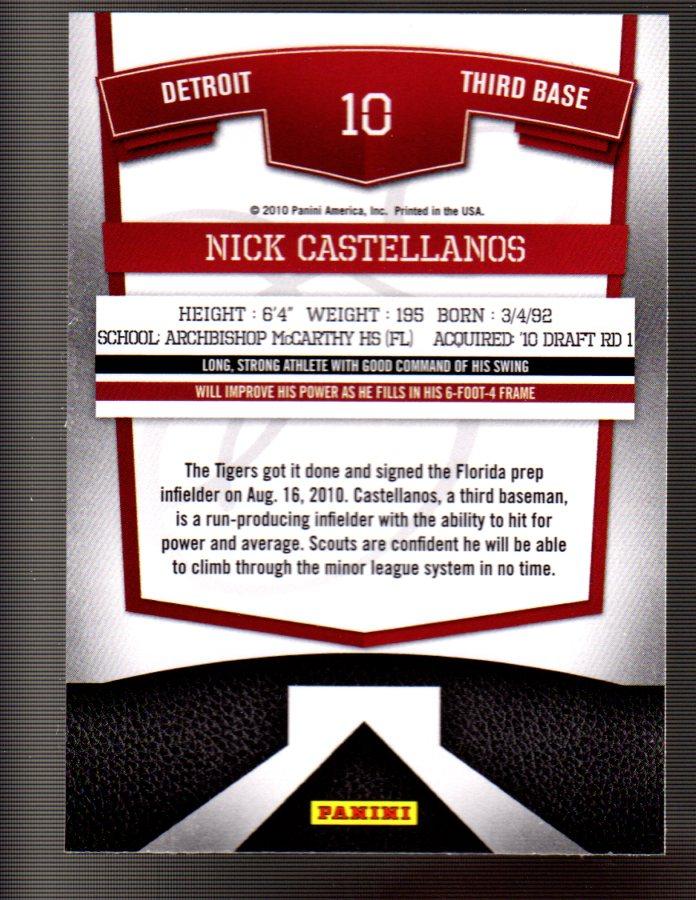 2010 Donruss Elite Extra Edition #10 Nick Castellanos back image